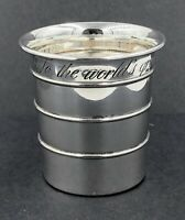 Sterling silver 1 Cup measure ' To The Worlds Greatest Cook '