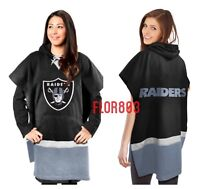 Oakland Raiders NFL Hoodie Poncho (one Size Fit Most)
