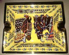 HERMES Porcelain Ashtray Plate Valet La Danse du Cheval Marwari Equestrian Rare