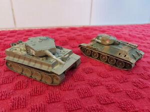 Bundle Of Two Corgi Tanks - T34 - Tiger 1