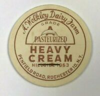 A Welkley Dairy Farm Penfield Road Rochester NY New York Vintage Milk Bottle Cap