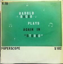 HAROLD BAUER plays again in stereo LP Mint- A 102 S Vinyl  Record