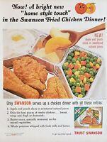 Lot of 3 Vintage Swanson Frozen TV Dinner Print Ads