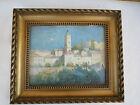 Ancienne Peinture huile signé tardieu paysage mosquée berbere orientaliste