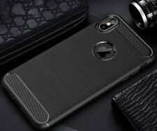 """For Apple iPhone XS (5.8"""") Case Carbon Fibre Cover & Glass Screen Protector"""