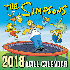 The Simpsons Animated TV Series 16 Month 2018 Wall Calendar NEW SEALED