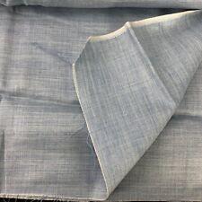 Chambray Barco-Azul Pálido-tela de algodón género para camisería Childrens Confección