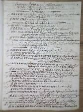 Manoscritto settecentesco- Medaglie bronzi imperatori romani- Numismata