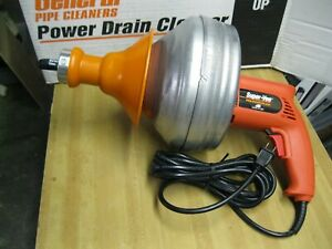 BRANDNEW GENERAL PIPE SUPER-VEE POWER DRAIN CLEANER WITH CABLE~MADE IN USA~SEWER