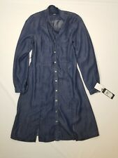 Tommy Hilfiger Blue Chambray Long Sleeve Button Front Dress. Sz 8