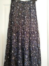 vintage monsoon skirt size 8-10 1990s floral print indie blogger midi