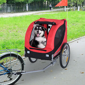 PawHut Waterproof Bike Pet Cargo Trailer Bicycle Dog Carrier Steel Suspension
