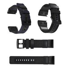 Woven Nylon Leather Bracelet Watch Band For Garmin Fenix 5X/5Xplus/3 HR Fenix 5