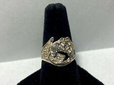 .925 Sterling Silver Horseshoe Ring *