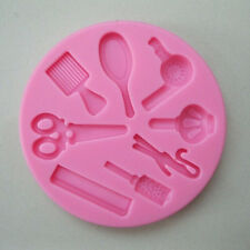 3D Hair Beauty Tool Fondant Cake DIY Mold Silicone Mould Baking Decorating Tool