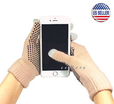 Winter Touch Screen Gloves Smartphone Tablet Pad Women CAMEL US Stock