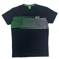 Hugo Boss Men's Size XL Graphic Striped T-Shirt Green Label Logo Designer