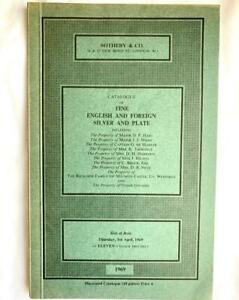 Sotheby April 1969  English and Foreign Silver & Plate Auction Catalogue rare