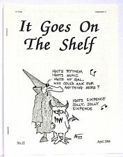 It Goes On The Shelf 12 — April, 1994 — Published by Ned Brooks —  Classic zine