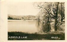 Ashfield Lake Massachusetts~Lake Scene~1949 Real Photo Postcard~RPPC