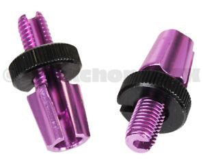 Dia-Compe M7 threaded bicycle brake lever barrel adjusters - PAIR - PURPLE