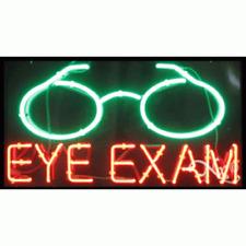 Brand New Eye Exam 37x20x3 Withlogo Real Neon Sign Withcustom Options 10677