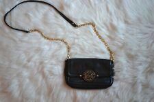 Tory Burch Leather Black Mini Amanda Gold Chain Crossbody Bag Purse Clutch