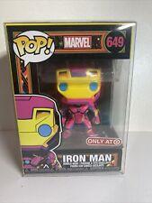 Funko POP! Marvel: Black Light Iron Man 649 w/ Pop protector