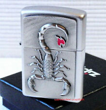 ZIPPO Feuerzeug SCORPION WITH FLAME m. Emblem Street Chrome Skorpion NEU OVP