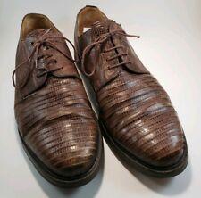 Mezlan Platinum Munich Brown Lizard Oxfords Dress Shoes Mens Size 15 Gators