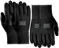 Workin' Glove Nitrile Coated Reusable Utility Gloves 2 PAIRS - Black