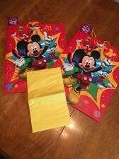Brand New Lot Of 2 Large Gift Bags w/ Tissue. Theme Mickey Mouse Disney Pals