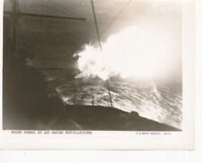WWII 1944-5 Philippines Official US Navy Photo Night Firing at Japanese