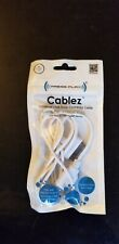 Cablez Universal white USB Dock connector cable for iphone 4/4s
