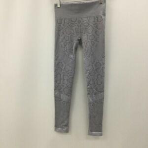New Varley Leggings Womens Size UK M Grey Snake Print Casual Workout 491713
