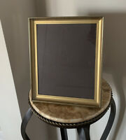 """Vintage Gold Tone Metal Patina Matted Picture Frame 11""""x9""""Opening 8""""x10"""""""