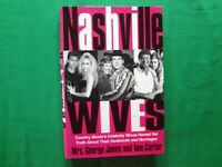 1998 NASHVILLE WIVES | NANCY JONES/TOM CARTER | HARDCOVER WITH DJ | AUTOGRAPHED