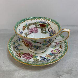 Vintage Hammersley & Co. Tea Cup & Saucer Set / Bone China / England Asian Theme