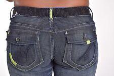 Akademiks Women's $78 Sequin Embroidered Stretch Denim Shorts Size 29