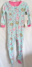 GIRLS 18-24 MONTH BLUE TEA CUPCAKE COOKIE LIGHT SLEEPER NWT THE CHILDREN'S PLACE