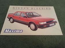September 1985 Nissan BLUEBIRD MAXIMA Saloon Special Edition UK FOLDER BROCHURE