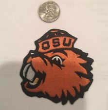 """OSU Oregon State Beavers vintage iron on embroidered patch 3"""" x  3"""""""