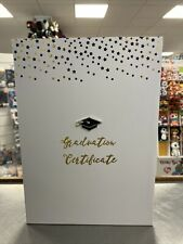 "White Deluxe Graduation Certificate Holder & Photo Frame 6"" X 8"""