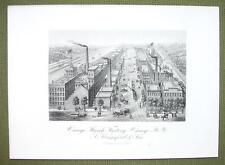 NEW YORK Oswego Starch Factory - 1876 Original Engraving Print