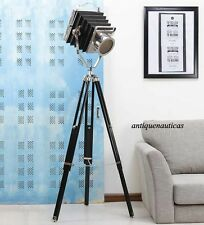 Vintage Classic Theatre Camera Halloween Gift Spot Light Solid Tripod Floor Lamp