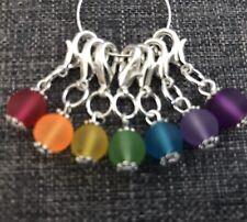 Knitting Crochet Stitch Markers , Rainbow Chakra Charms