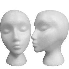Female Polystyrene/Styrofoam Model Mannequin Dummy Wigs Cap Hat Head Display