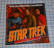 Star Trek Original TV Series 1989 Celebration Calendar Color Photos VG