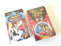 Disney Aladdin and the King of Thieves and The Return of Jafar VHS Lot of 2