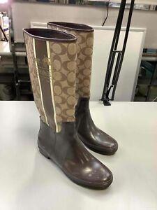 Women's Coach Pammie Rubber Rain Boots Size 8B